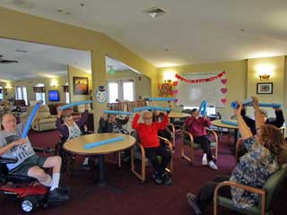 Exercise at Hart Heritage Assisted Living